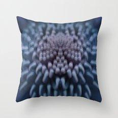 Silky Blue Throw Pillow