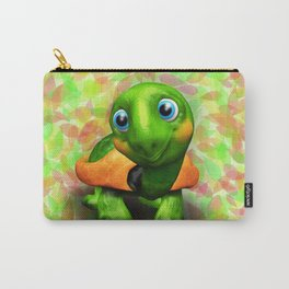 Green Turtle Baby 3D Carry-All Pouch
