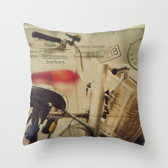 I just want to ride my bike today Throw Pillow