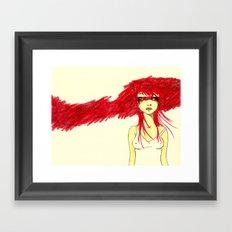 Red Target Framed Art Print