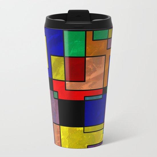 Abstract #316 Metal Travel Mug