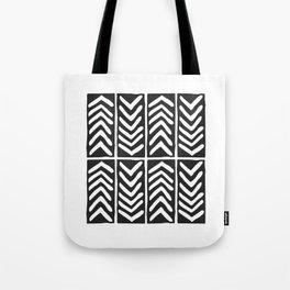 Tribal Print B&W- 03 Tote Bag