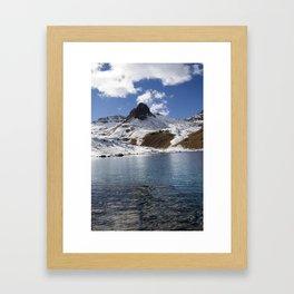 Autumn Ice - Ice Lakes Silverton,  CO Framed Art Print