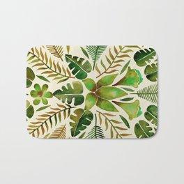 Tropical Symmetry – Olive Green Bath Mat