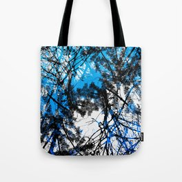 Blue tree pillow one Tote Bag