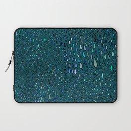 Blue Rain on a Window Laptop Sleeve