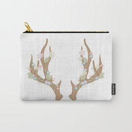 Antlers with flowers and leaves Carry-All Pouch