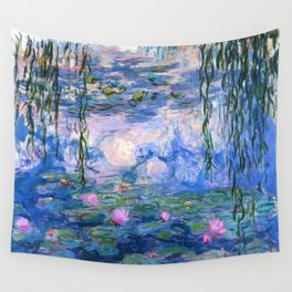 Water Lilies Monet Wall Tapestry