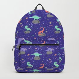 Dinosaurs Floating on Asteroids - Purple Backpack
