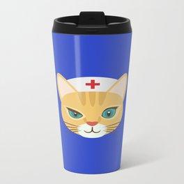 Nurse Cat ~ Blue Travel Mug