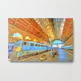 Pop Art Railway Station Metal Print
