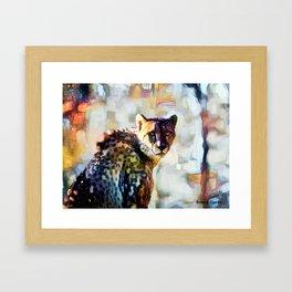 Your Cheetah Eyes Framed Art Print