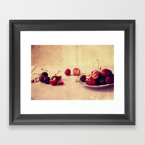 like cherries? Framed Art Print
