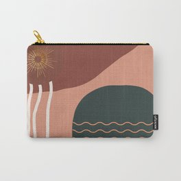 American Desert Southwest Abstract Sun Carry-All Pouch