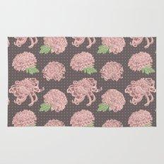 Soft Pink Chrysantemum Seamless Pattern Rug