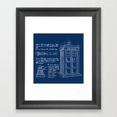 Plan Tardis Framed Art Print