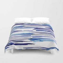 Shibori Paint Vivid Indigo Blue and White Duvet Cover