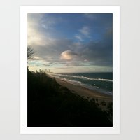 Birds eye view of Paradise Art Print