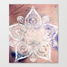 Flower mandala- rose Canvas Print