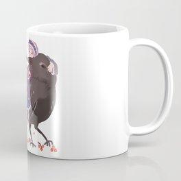 Black eagle and girl Coffee Mug