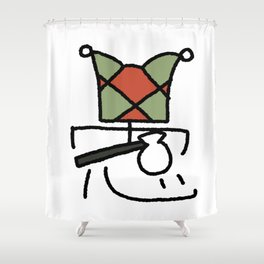 00 The Fool Shower Curtain