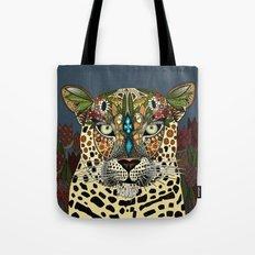 leopard queen blue Tote Bag