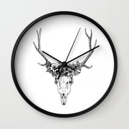 Earth Stag Wall Clock