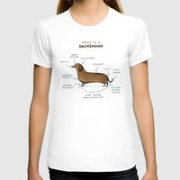 T-shirts featuring Anatomy of a Dachshund by Sophie Corrigan