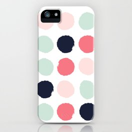 Painted dots trendy color palette minimal polka dots decor nursery home iPhone Case