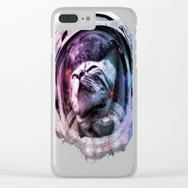Meowt of this world copy Clear iPhone Case