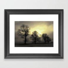 Golden Tree Landscape Framed Art Print