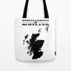 Distilleries of Scotland Tote Bag
