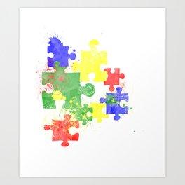 Autism Pieces Art Print