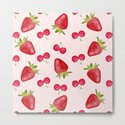 Strawberries Cherries Fiesta Pattern by oursunnycdays