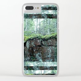 MOSS ROCK Clear iPhone Case