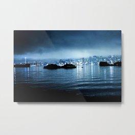 Seattle Fog- Night Metal Print