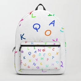 Dancing block letters party time Backpack
