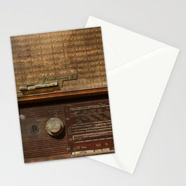 Vintage Photography of Wooden Tube Radio Stationery Cards
