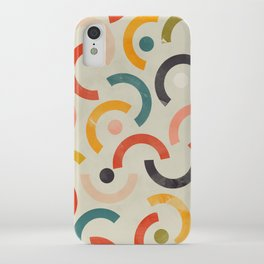 mid century geometric abstract iPhone Case