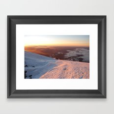 Sunrise above the earth - 14,411 feet Mt. Rainier Framed Art Print