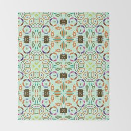 """Seamless pattern in the style of """"printed circuit board"""" Throw Blanket"""