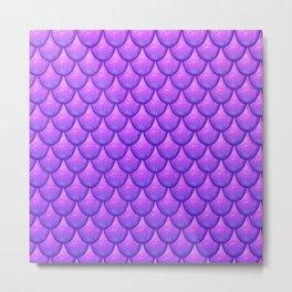 Fish Scales - Purple Version Metal Print
