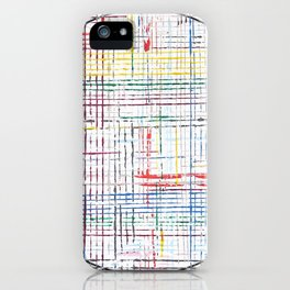The System - line motif iPhone Case