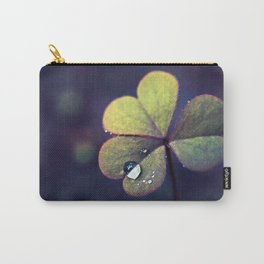 Clover Oxalis Macro with Dew Drops Carry-All Pouch