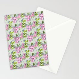 Watercolor Flower Pattern Stationery Cards