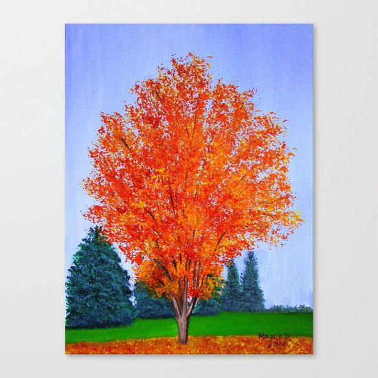 Fall tree in ND Canvas Print