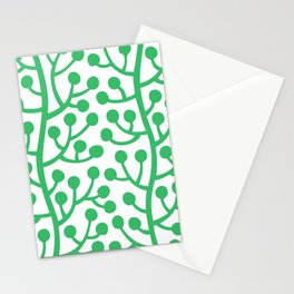 Beautiful Vine Pattern with Berries 424 Green Stationery Cards