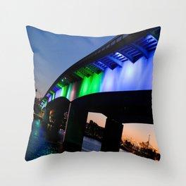 Light the bridge. Throw Pillow
