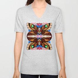 Moth & Lotus Unisex V-Neck