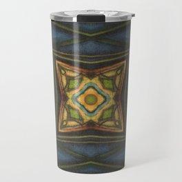 Celtic // Ireland Scotland Irish Green Blue Celt Druid Fairy Avalon Geometric Abstract Design Travel Mug
